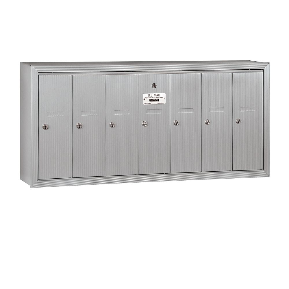 Salsbury 3507SU 7 Door Vertical Mailbox Surface Mounted USPS Access