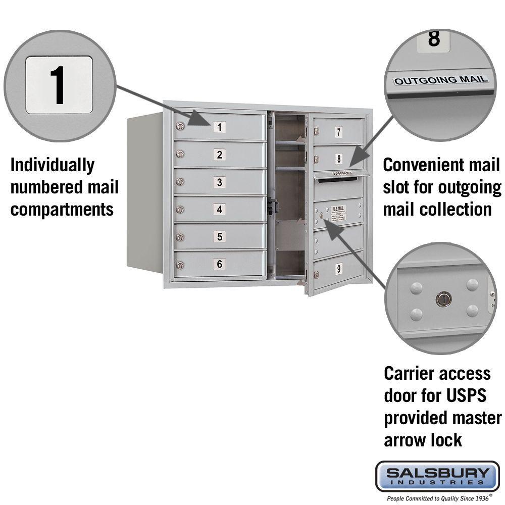 Salsbury 3706d 09fu 4c Mailboxes 9 Tenant Doors