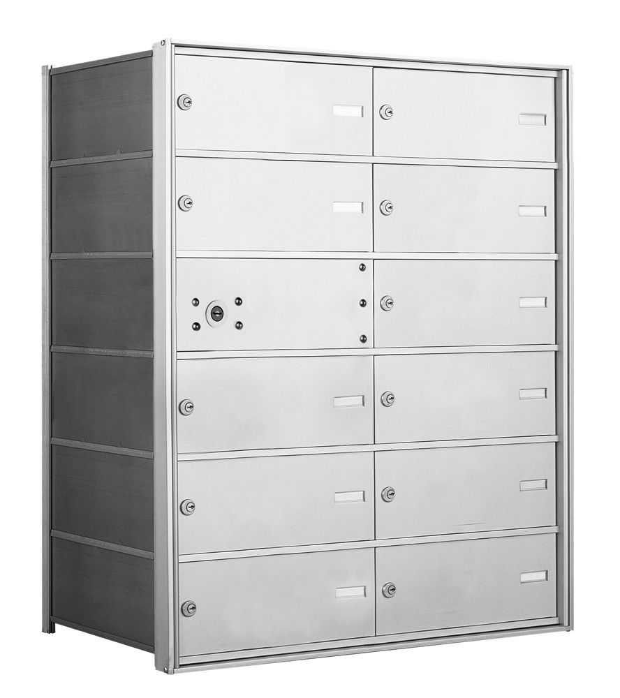 1400 Series Front-Loading Horizontal Mailboxes - 11 Double Wide Tenant Doors
