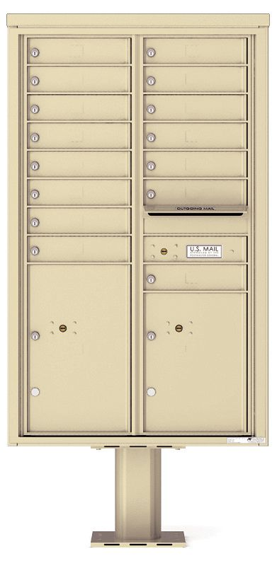 private commercial pedestal mailbox 15 tenants