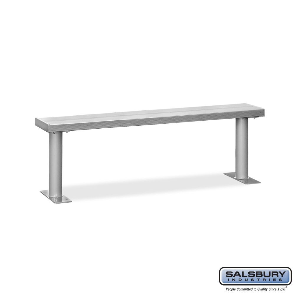 Aluminum Locker Benches - 72 Inches Wide