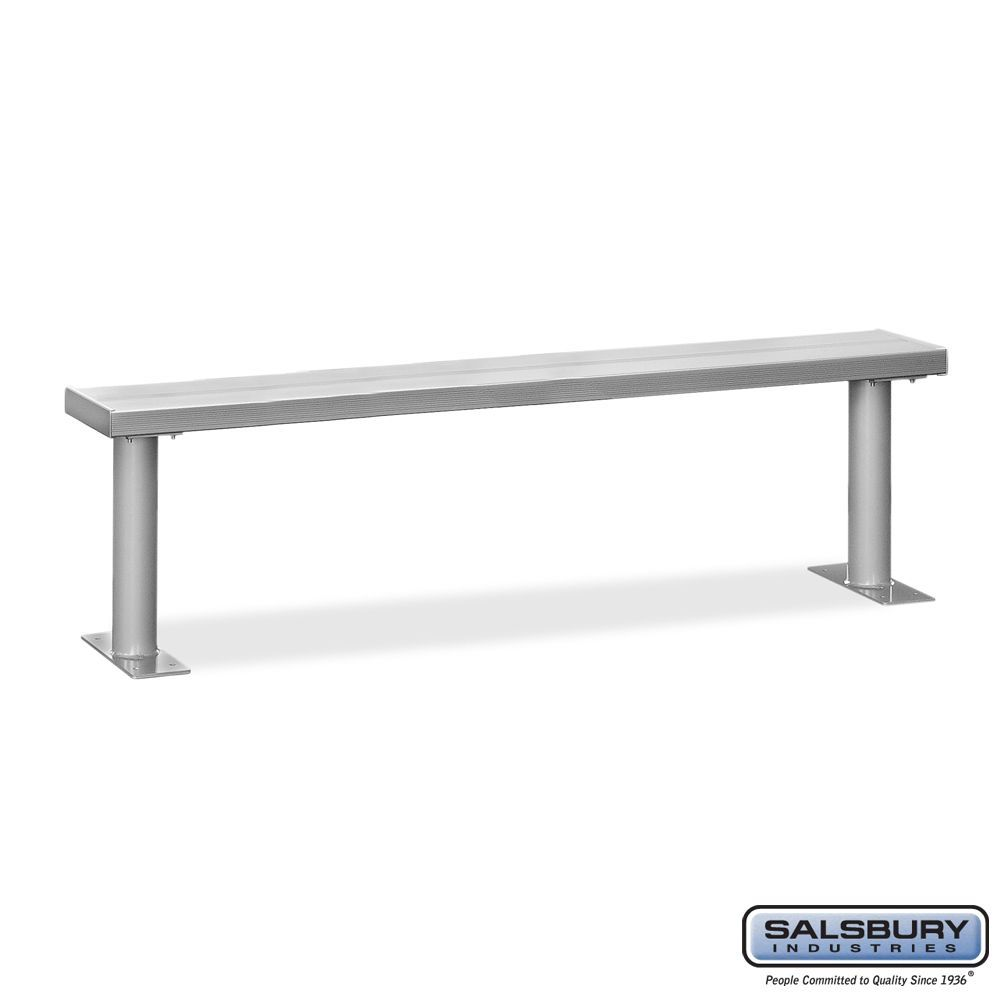 Aluminum Locker Benches - 84 Inches Wide
