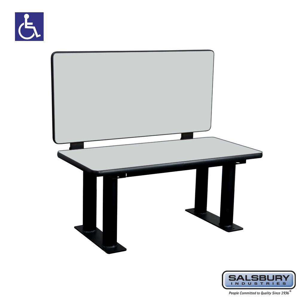 Salsbury Designer Wood ADA Locker Bench with back support - 42 Inches Wide - Choose Color