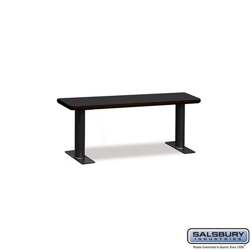 Designer Wood Locker Benches - 48 Inches Wide - Choose Color