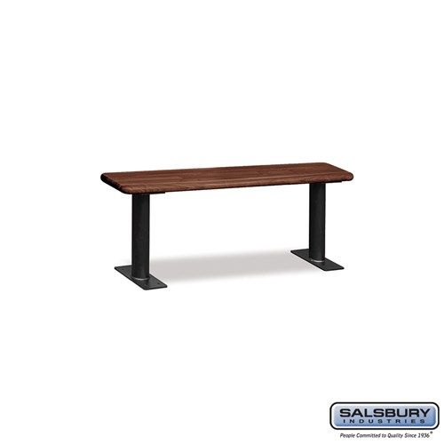 Wood Locker Benches - 48 Inches - Choose Color