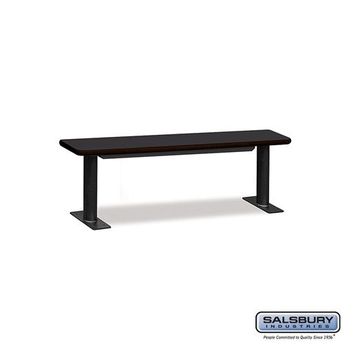 Designer Wood Locker Benches - 60 Inches Wide - Choose Color