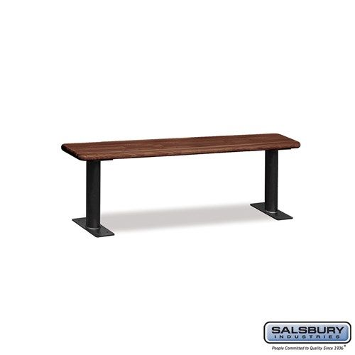 Wood Locker Benches - 60 Inches - Choose Color