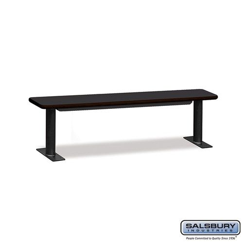 Designer Wood Locker Benches - 72 Inches Wide - Choose Color
