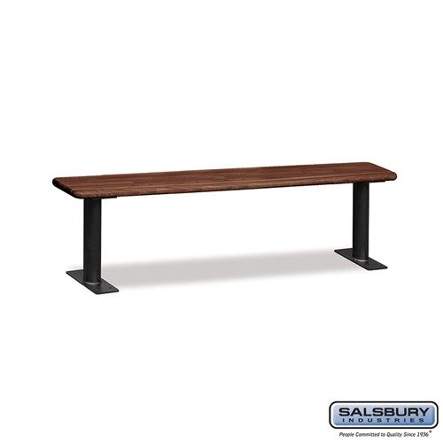 Wood Locker Benches - 72 Inches - Choose Color