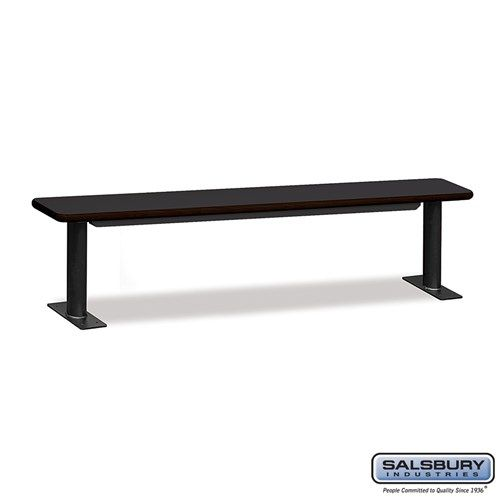 Designer Wood Locker Benches - 84 Inches Wide - Choose Color