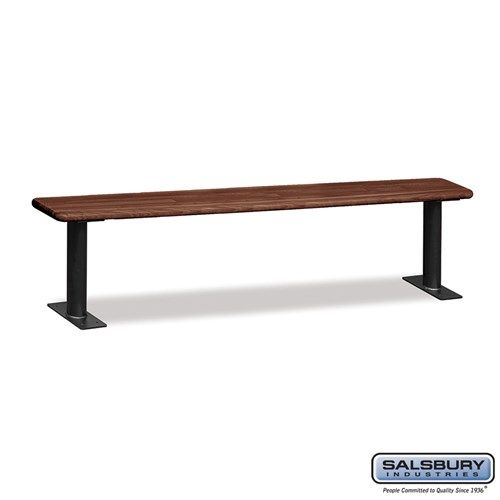 Wood Locker Benches - 84 Inches - Choose Color