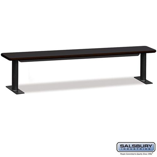 Designer Wood Locker Benches - 96 Inches Wide - Choose Color