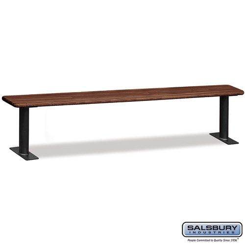 Wood Locker Benches - 96 Inches - Choose Color