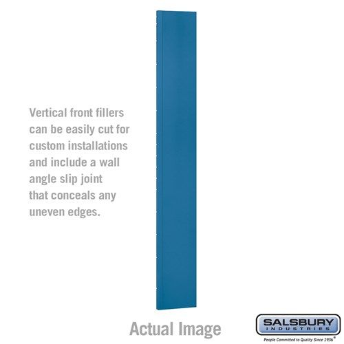 Front Filler - Vertical - 9 Inch Wide - for 6 Feet High Metal Locker - Choose Color