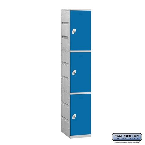 Plastic Locker - Triple Tier - 1 Wide - 73 Inches High - 18 Inches Deep - Choose Color