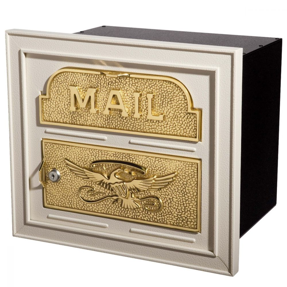 almond-with-polished-brass-classic-column-mailbox