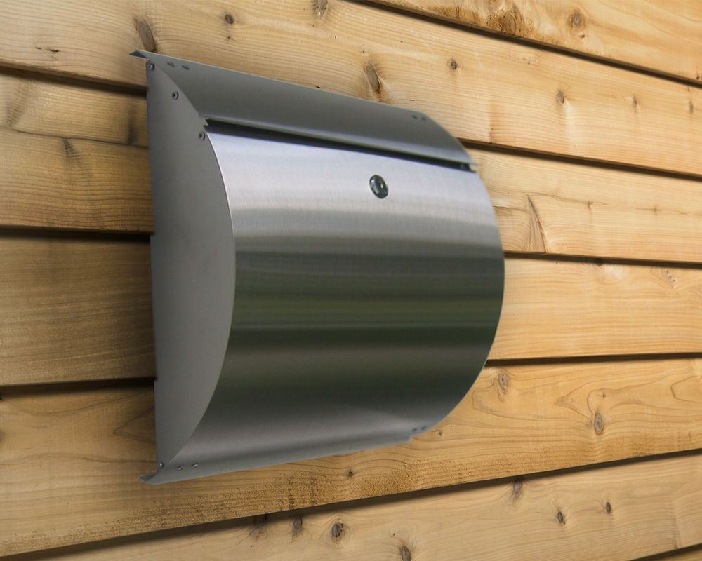 Stainless Steel Modern, Contemporary Curb Appeal Wall Mount Mailbox