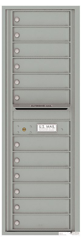 Front Loading Commercial Mailbox - 12 Extra-Large Tenant Doors - Single Column