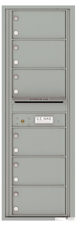 Front Loading Commercial Mailbox - 6 Tenant Doors - Single Column