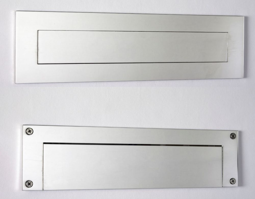 Front and Rear Stainless Steel Mail Slot (small) 11.8
