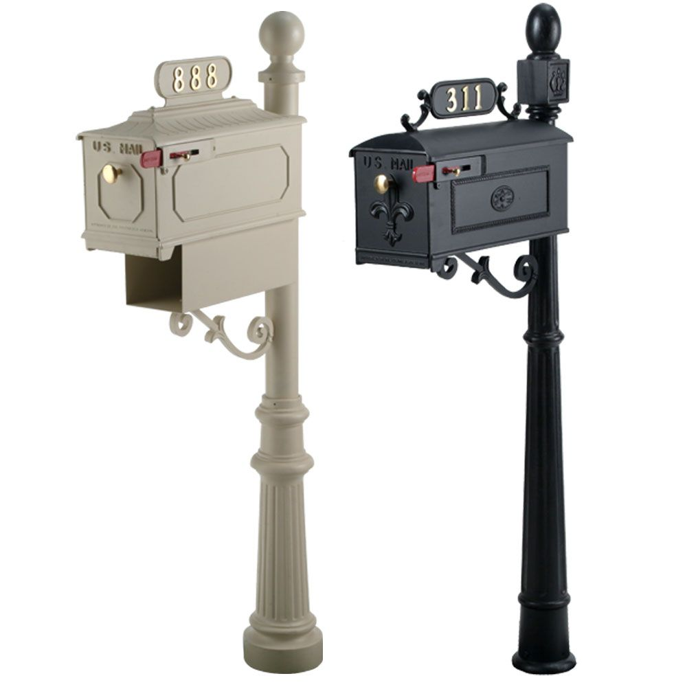 imperial series custom residential mailbox with post