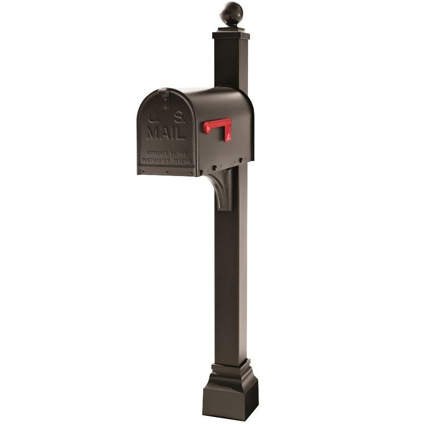 Janzer Mailbox and Post Combo - Choose Mailbox Color