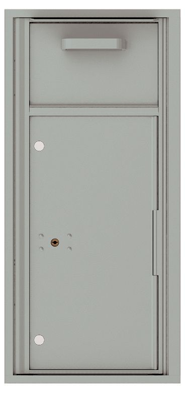 Versatile Front Loading Single Column Mailbox Collection Drop Box with Pull Down Hopper - 4CADS-HOP