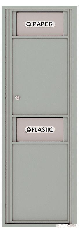 Versatile Front Loading Single Column Medium Size Trash Receptacle Recycling Bin with Paper Segregator