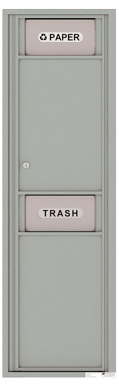 Versatile Front Loading Single Column Large Trash Receptacle Recycling Bin with Paper Segregator