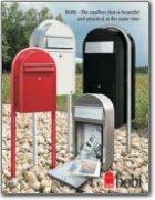Grande B Black Mailbox Bobi Mailboxes Catalog