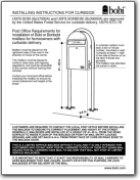 Grande B Black Mailbox Installation Instructions