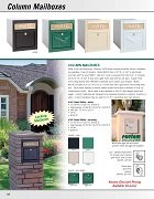 Column Mailboxes / Antique Brass Column Mailboxes
