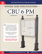 Decorative Posts for CBU Systems