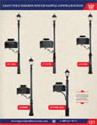 Sample Configuration of Light Pole Mailbox Systems