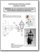 Light & Mounting Block Installation Instructions