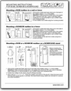 Grande B Black Mailbox Mounting Instructions