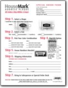 Keystone Series Address Plaque & Lettering Order Form