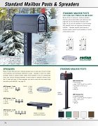 Standard Mailbox Posts & Spreaders