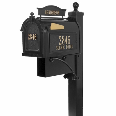 Small whitehall ultimate mailbox package in black
