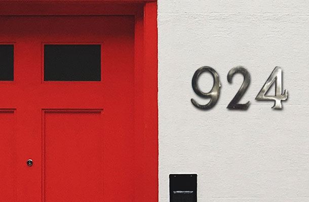 Address Numbers & Letters