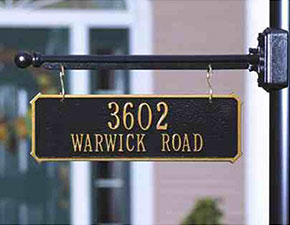 Hanging Address Plaque