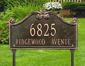 Lawn Address Plaque
