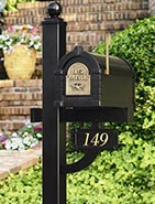 Gaines Original Keystone Residential Mailbox and Post