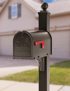 Janzer Residential Mailbox and Post Curbside