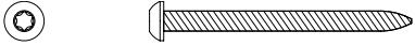 64225 - #8 x 2 pan-head T20 Torx wood screw