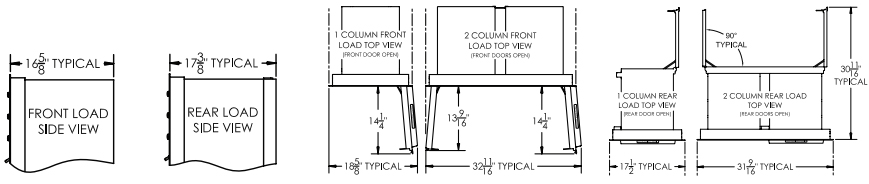 Top and Side Views For All Suite Heights