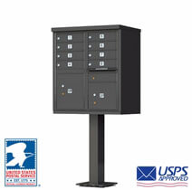 Commercial Cluster Mailboxes Dark Bronze