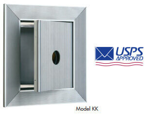 key keeper for vertical mailbox