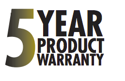 5 Year Product Warranty